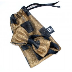 BLACK GOLD BOW TIE
