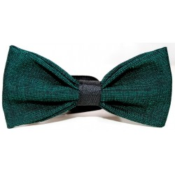GREEN BLACK BOW TIE