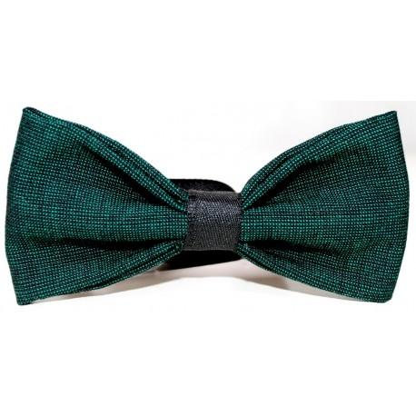 GREEN BLACK BOW TIE