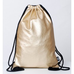 ECO LEATHER  SACK BLACK -GOLD