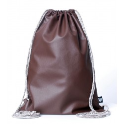 ECO LEATHER BROWN SACK/BAG