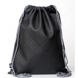 QUILTED SACK BLACK