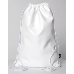 ECO LEATHER WHITE SACK/BAG