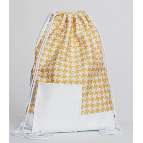 YELLOW-WHITE SACK/BAG