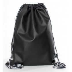 ECO LEATHER BLACK SACK/BAG