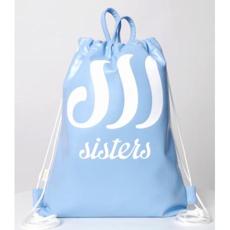 ECO LEATHER BLUE SACK/BAG