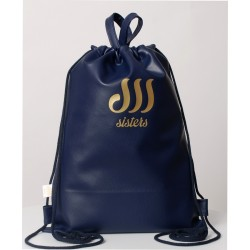 ECO LEATHER NAVY BLUE SACK/BAG